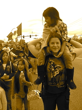 Stephany at the Farm Worker Solidarity March (photo by Frani)