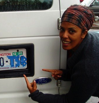 Tizita found a tSB license plate on the scavenger hunt after the Hood retreat