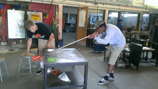 Troy Blowing Glass