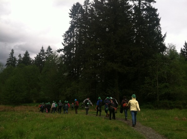 Trail work with the Washington Trails Association