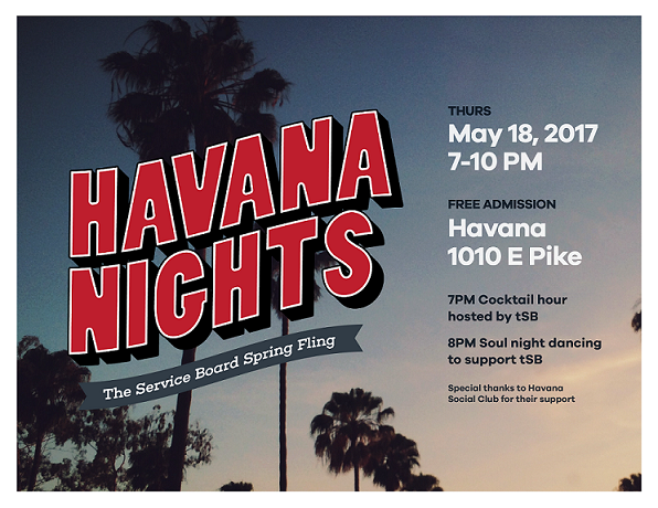Havana Nights Cocktail Party, May 18 | the Service Board