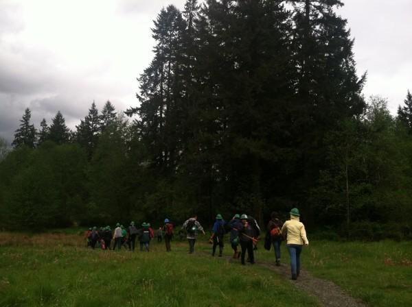 Trail work with the Washington Trails Association